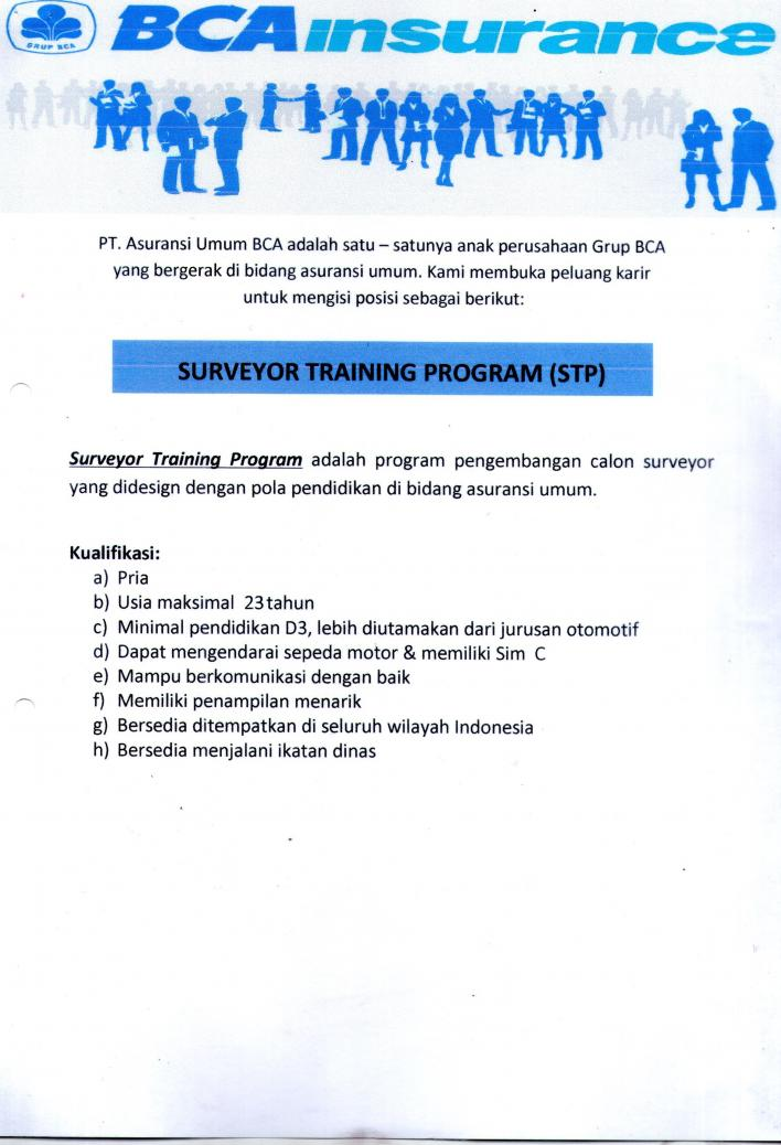 Lowongan Surveyor Training Program